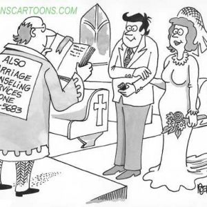 Wedding Marraige Cartoon 19    a Cartoon Image and funny joke in the genre of marriage. Images for license by Dan Rosandich
