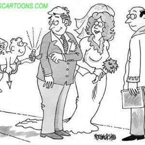 Wedding Marraige Cartoon 21    a Cartoon Image and funny joke in the genre of marriage. Images for license by Dan Rosandich