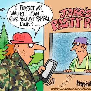 Yooper Michigan Cartoon 040    a Cartoon Image and funny joke for license by Dan Rosandich