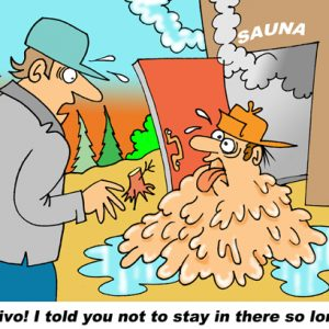Yooper Michigan Cartoon 041    a Cartoon Image and funny joke for license by Dan Rosandich