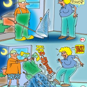 Yooper Michigan Cartoon 043    a Cartoon Image and funny joke for license by Dan Rosandich