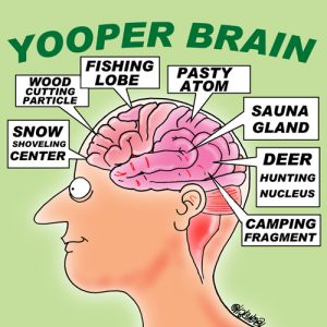 Yooper Michigan Cartoon 049    a Cartoon Image and funny joke for license by Dan Rosandich