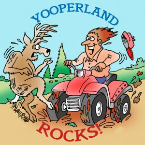 Yooper Michigan Cartoon 053    a Cartoon Image and funny joke for license by Dan Rosandich
