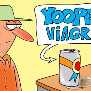 Yooper Michigan Cartoon 057    a Cartoon Image and funny joke for license by Dan Rosandich