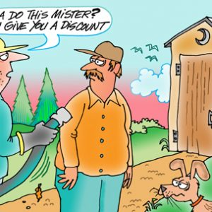 Yooper Michigan Cartoon 060    a Cartoon Image and funny joke for license by Dan Rosandich