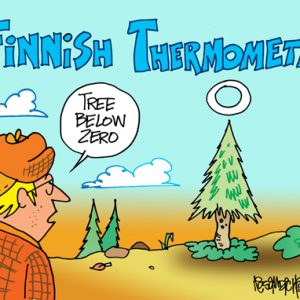 Yooper Michigan Cartoon 061    a Cartoon Image and funny joke for license by Dan Rosandich