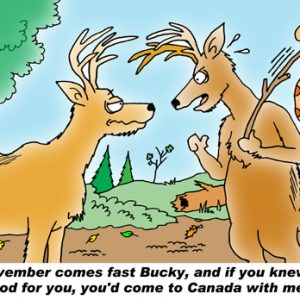 Yooper Michigan Cartoon 063    a Cartoon Image and funny joke for license by Dan Rosandich
