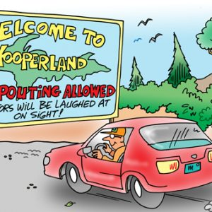 Yooper Michigan Cartoon 077    a Cartoon Image and funny joke for license by Dan Rosandich