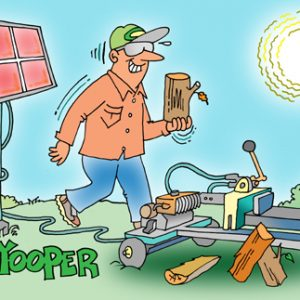 Yooper Michigan Cartoon 093    a Cartoon Image and funny joke for license by Dan Rosandich
