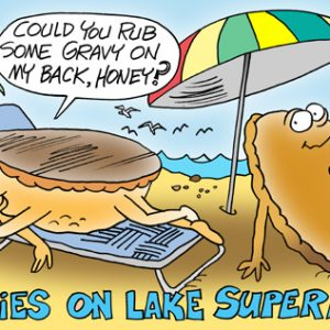 Yooper Michigan Cartoon 104    a Cartoon Image and funny joke for license by Dan Rosandich