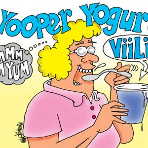 Yooper Michigan Cartoon 111    a Cartoon Image and funny joke for license by Dan Rosandich