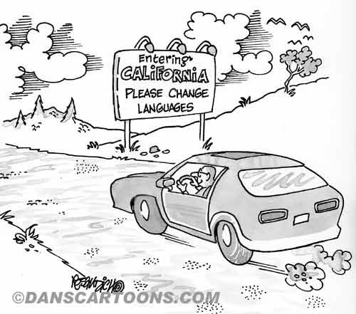 Car Automobile Cartoon 01 a Cartoon Image and funny joke in the genre of cars and automobiles. Images for license by Dan Rosandich