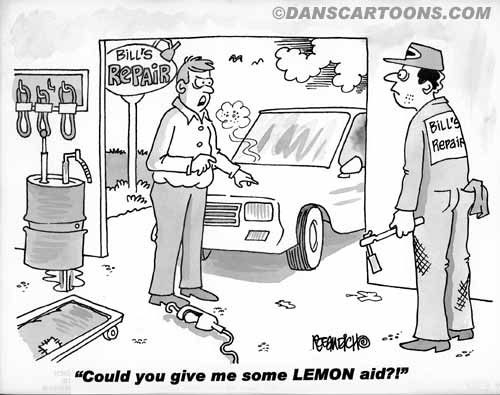Car Automobile Cartoon 06 a Cartoon Image and funny joke in the genre of cars and automobiles. Images for license by Dan Rosandich