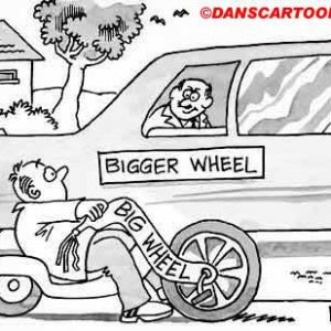 Car Automobile Cartoon 38 a Cartoon Image and funny joke in the genre of cars and automobiles. Images for license by Dan Rosandich