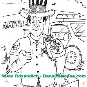 uncle sam is an ambulance attendant
