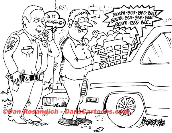 Law Enforcement Police Cartoon 209