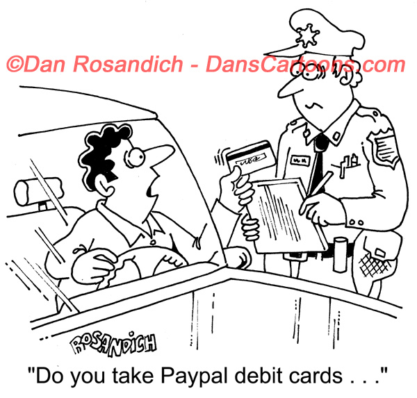police officers accepting credit cards