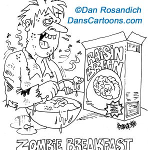 zombie eats cereal cartoon