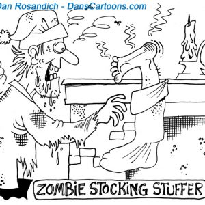 zombie christmas cartoon