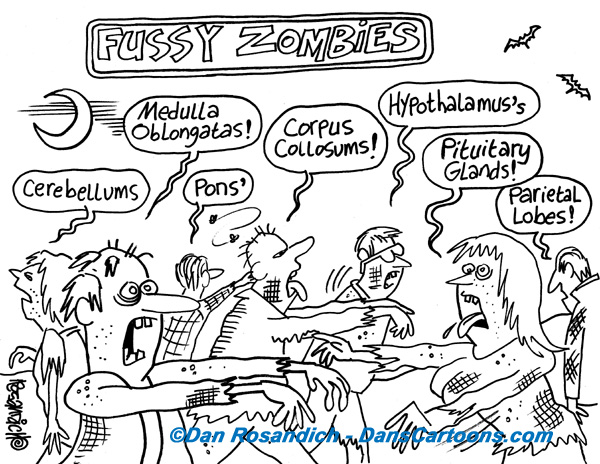 fussy zombie cartoon