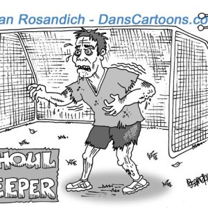 soccer goalie zombie cartoon