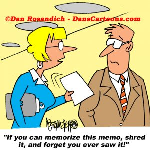 shredding a memo