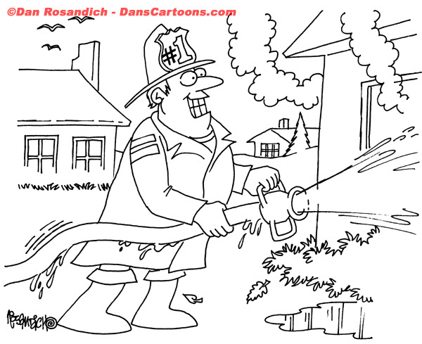 Firefighter Cartoon 15
