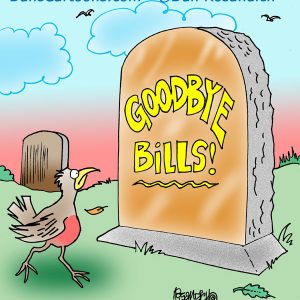 goodbye bills tombstone epitaph