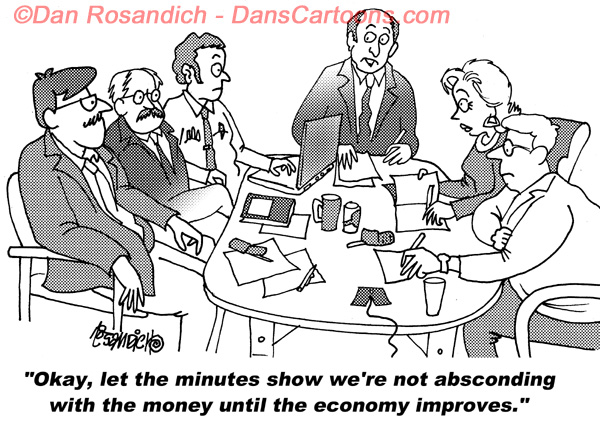 office cartoon about improving economic conditions