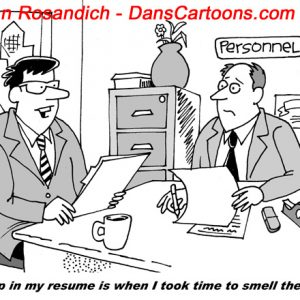 in personnel office an applicant discusses resume