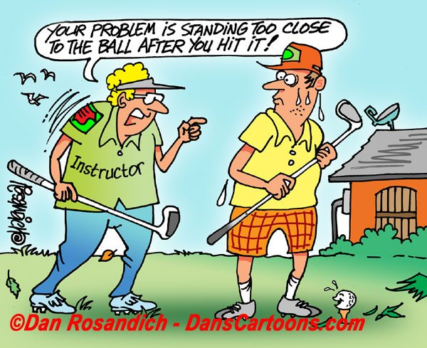 golf instructor cartoon
