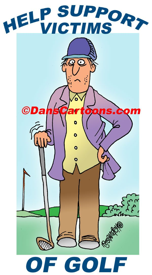 golf addiction cartoon