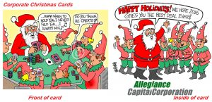 corporate cartoon christmas cartoon