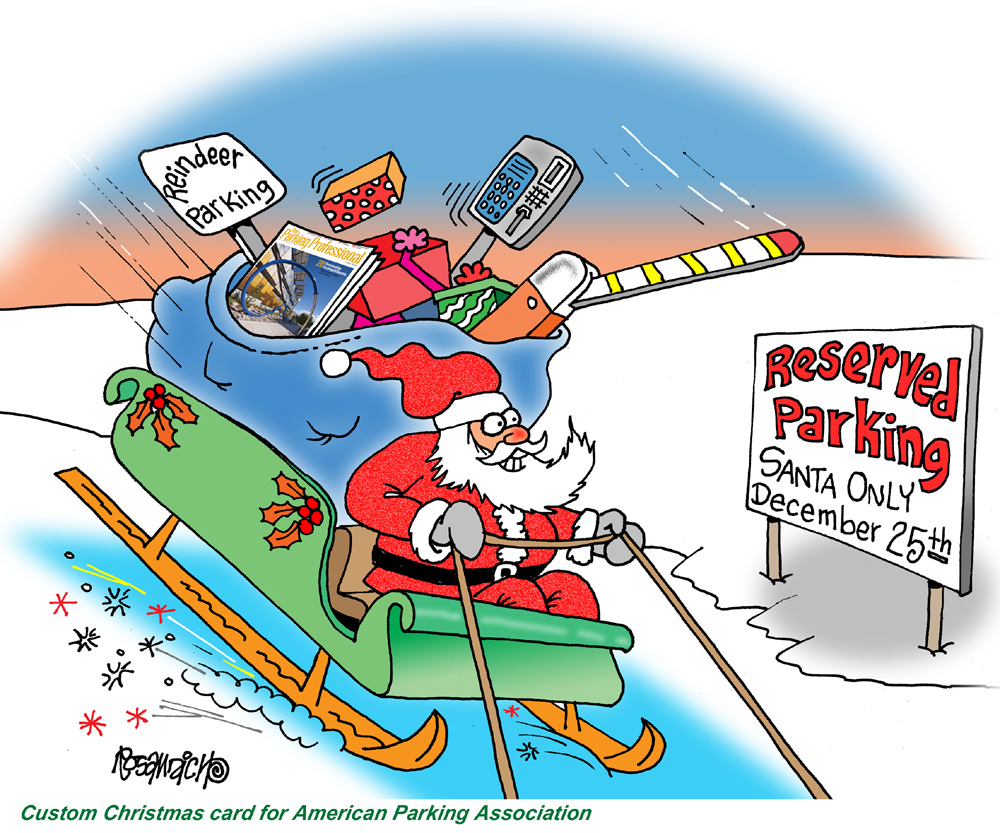 CHRISTMAS CARTOONS CUSTOMIZED FOR HOLIDAY GREETINGS