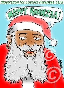 kwanzaa cartoon card