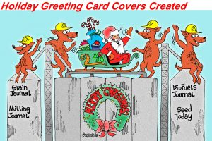 holiday cartoon cards