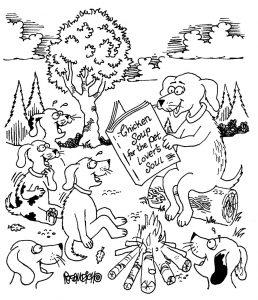 therapy dog cartoons