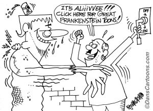 FRANKENSTEIN CARTOONS ABOUT MONSTERS