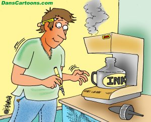 cartoonist coffee pot