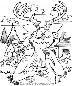 deer hunting cartoons