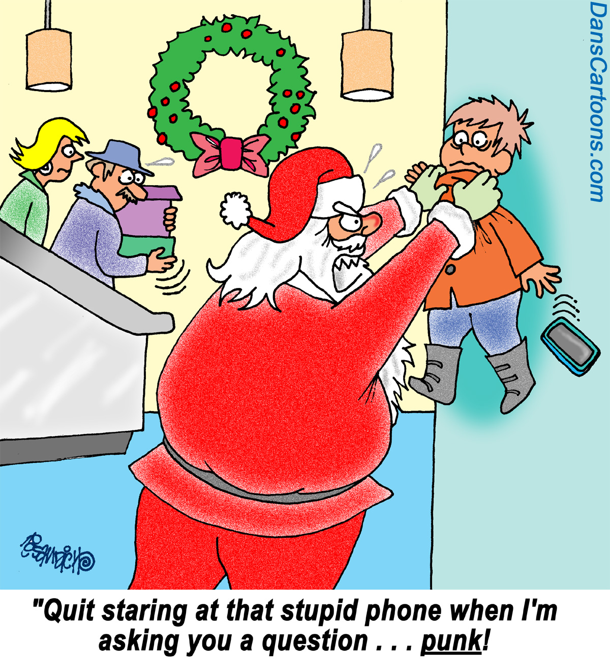 mad santa cartoon