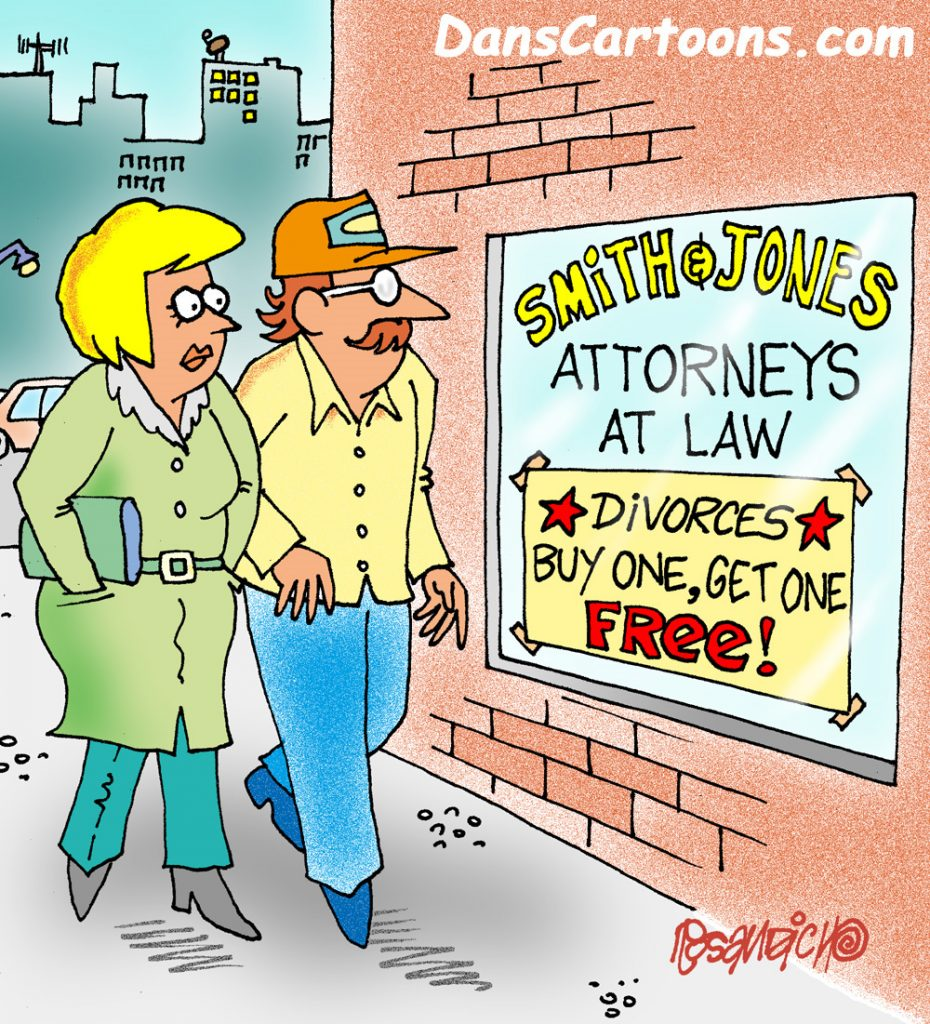 divorce cartoons