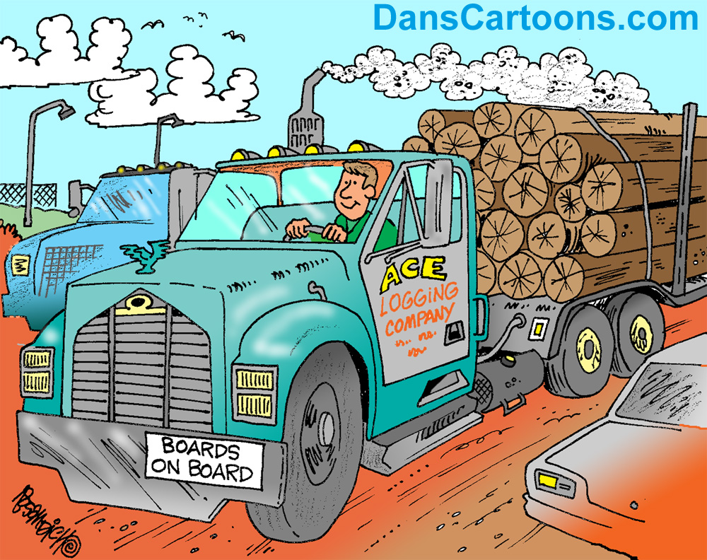 logging cartoons